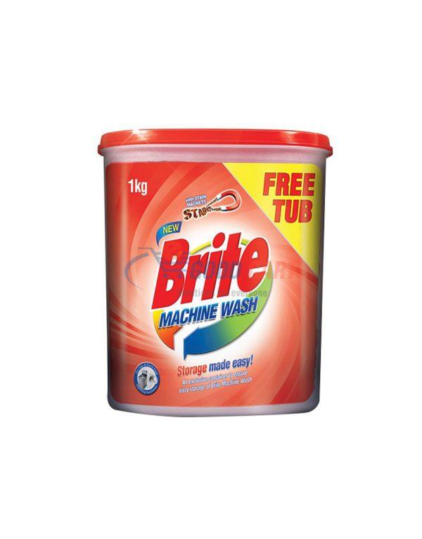 Buy Brite Machine Wash 1kg with FREE Tub