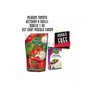 Get Free Chaat Masala with Mehran Chilli Garlic Sauce Pouch 1Kg