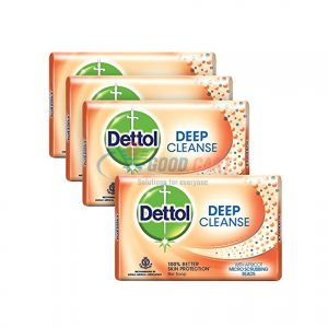 Dettol Pack Of 4 Soap Deep Cleanse 138g
