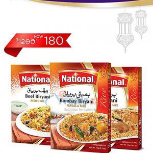 National Beef Biryani 80g + Bombay Biryani 70g+ Biryani Masala 45G