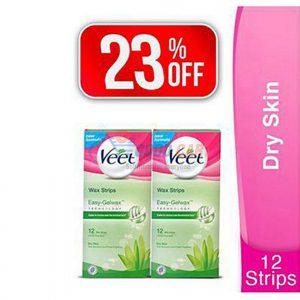 Veet Wax Strips 12's For Dry Skin X2 (23% Off)400 (Original Price: 520)